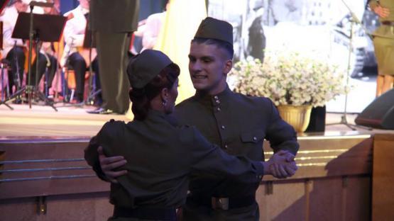 Военный танец под песню Клавдии Шульженко «Эй, Андрюша». Ансамбль танца «Valery»