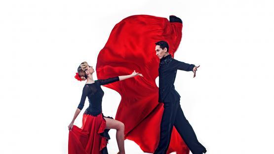 Танцевальное шоу на праздник, свадьбу, юбилей в Москве. Пасодобль «Кармен» в исполнении танцевальной пары «Valery»