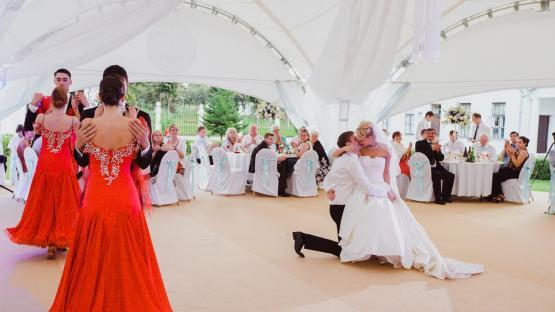 Сопровождение свадебного танца, артисты на свадьбу